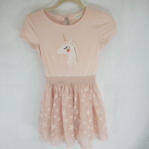 Btween Size 6X Girls Dress Unicorn And Stars Pink